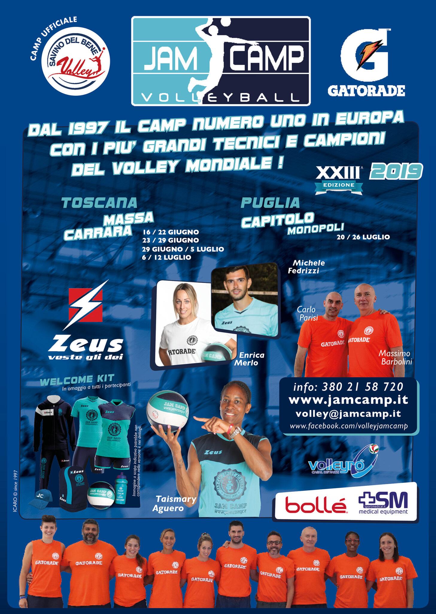 Partnership con JAM CAMP Hobby & Volley